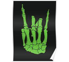 Skeleton hand | Green Poster