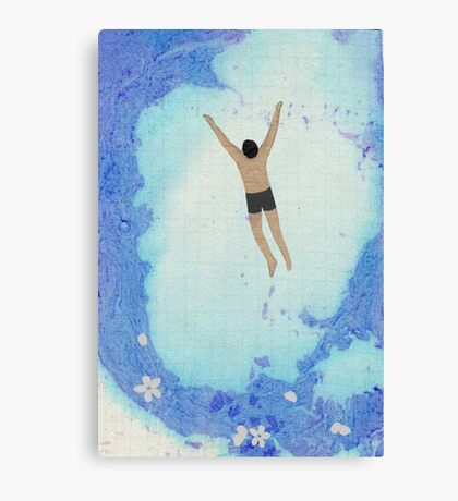 Swimming with blossoms Canvas Print