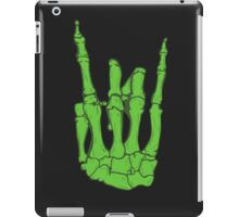 Skeleton hand | Green iPad Case/Skin