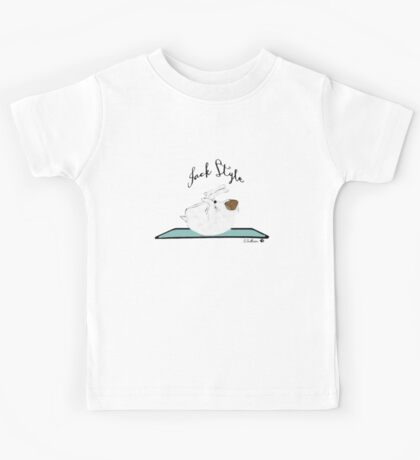 Jack Style - Jack Russell Terriers Doing Yoga on Your Stuff Kids Tee