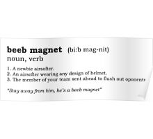 Beeb magnet - Dictionary entry Poster