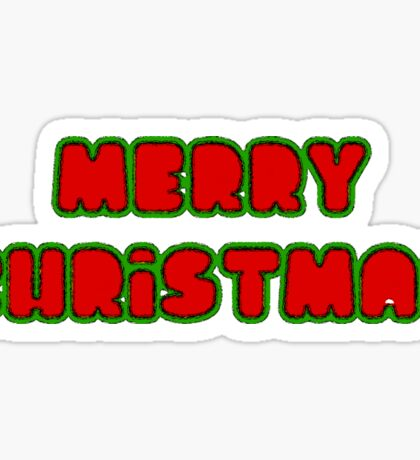 Merry Christmas Font Sticker