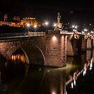 Alte Brücke and Schloss in Heidelberg, Germany by Mark Heller