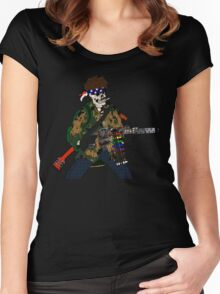 Combat Crayon Women's Fitted Scoop T-Shirt