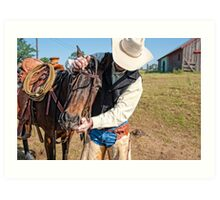 Saddle Up! Art Print