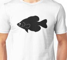 Crappie Fish Silhouette (Black) Unisex T-Shirt