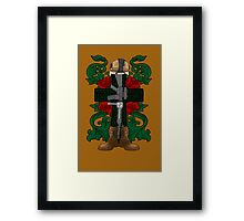 Battle Cross for Shirts Framed Print