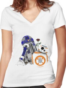 Android Love Women's Fitted V-Neck T-Shirt