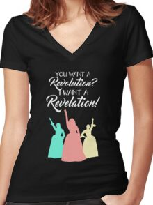 Broadway Quote Shirt Women's Fitted V-Neck T-Shirt