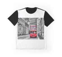 Traditional Red London Bus Graphic T-Shirt