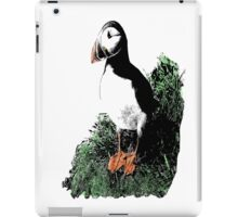 Puffin on a Cliff - Naturalist Drawing - Scientific Illustration iPad Case/Skin
