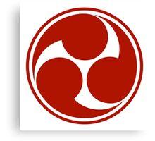 Mitsu Tomoe - Japan - Shinto Trinity Symbol - Triskele Canvas Print