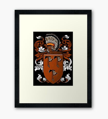 New World Coat of Arms Framed Print