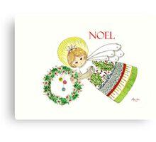 Christmas Angel Holly Canvas Print