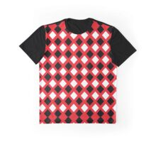 Rhombus: Red, Black and White I Graphic T-Shirt