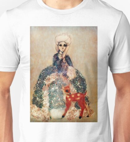 Fairies of Versailles Fawn in winter Unisex T-Shirt