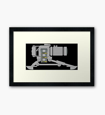 Machine Gun Camera Color Framed Print