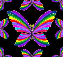 Butterfly Psychedelic Rainbow by BluedarkArt