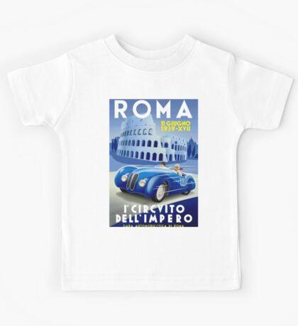 """ROMA VINTAGE GRAND PRIX"" Auto Racing Print Kids Tee"