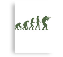 Evolution of ape to airsofter Canvas Print