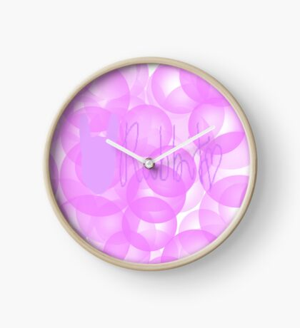 Kawaii Rabbit Typography  Clock