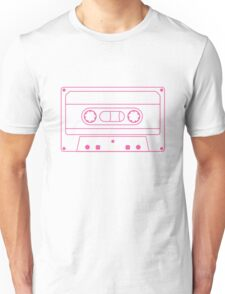 Single Cassette Outlines (white) Unisex T-Shirt