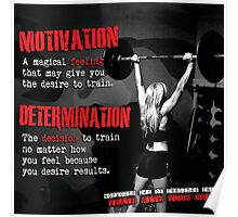 Motivation and Determination Poster
