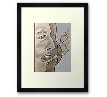 Cigarette on your lips Framed Print