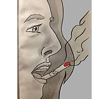Cigarette on your lips Photographic Print