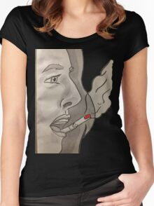 Cigarette on your lips Women's Fitted Scoop T-Shirt