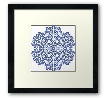 Cool Snowflakes Framed Print