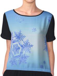 Fractal Snowflake Snowstorm Chiffon Top