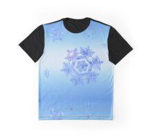 Fractal Snowflake Snowstorm Graphic T-Shirt