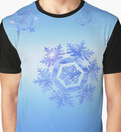 Fractal Snowflake Snowstorm Graphic T-Shirt
