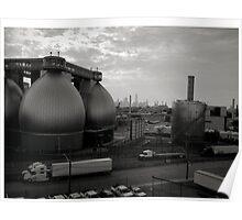 Newtown Creek Industrial Eggs Poster