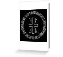 Crest of Reliability Greeting Card