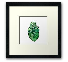 PCH - Printed Circuit Heart Framed Print