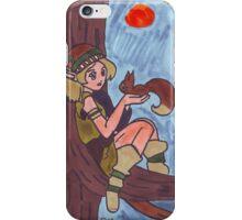 Wood Elf And Squirrel iPhone Case/Skin