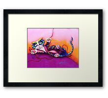Kitty and the Bow Framed Print