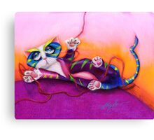 Kitty and the Bow Canvas Print