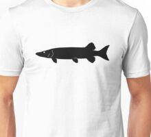 Muskie Fish Silhouette (Black) Unisex T-Shirt
