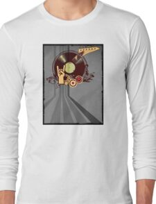 Rock Music Vinyl Record Collage 1 Long Sleeve T-Shirt