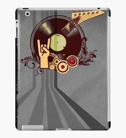 Rock Music Vinyl Record Collage 1 iPad Case/Skin