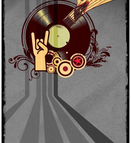 Rock Music Vinyl Record Collage 1 Sticker