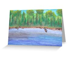 Finnish lakeview Greeting Card