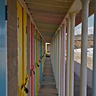 Bridlington Beach Huts by Andrew Connor Smith