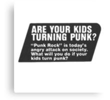 old punk rock ad Canvas Print