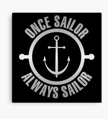 Silver Sailor Canvas Print