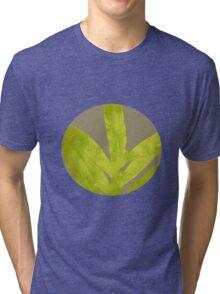 Lime Yellow Fern Tri-blend T-Shirt