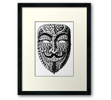 Ornate Anonymous Mask Framed Print
